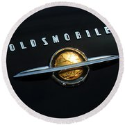 1950 Oldsmobile Rocket 88 Convertible Emblem Round Beach Towel