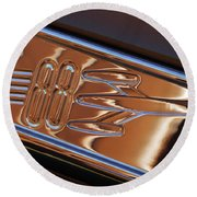 1950 Oldsmobile Rocket 88 Emblem 2 Round Beach Towel