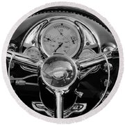 1950 Oldsmobile Rocket 88 Steering Wheel 4 Round Beach Towel