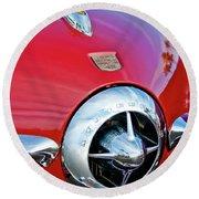 1950 Studebaker Champion Hood Ornament Round Beach Towel