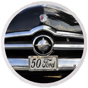 1950s Ford Round Beach Towel