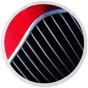 1951 Allard K2 Roadster Hood Ornament Round Beach Towel