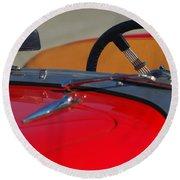 1951 Allard K2 Roadster Steering Wheel Round Beach Towel