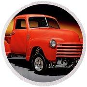 1951 Chevrolet 'gasser Style' Pickup I Round Beach Towel