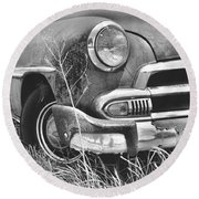 1951 Chevrolet Power Glide Black And White 2 Round Beach Towel by Lisa Wooten