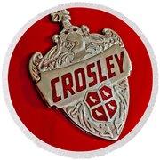 1951 Crosley Hood Emblem Round Beach Towel