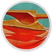 1951 Crosley Hot Shot Hood Ornament 2 Round Beach Towel