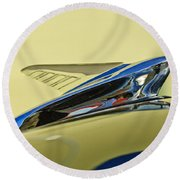 1951 Ford Hood Ornament 2 Round Beach Towel