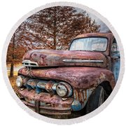 1951 Ford Truck Round Beach Towel