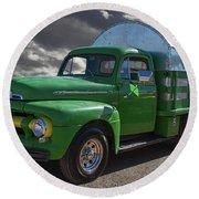 1951 Ford Truck Round Beach Towel