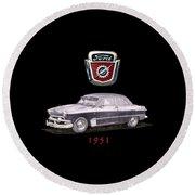 1951 Ford Two Door Sedan Tee Shirt Art Round Beach Towel