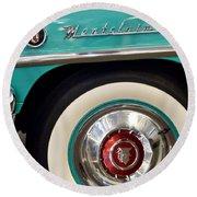 1951 Mercury Montclair Convertible Wheel Emblem Round Beach Towel