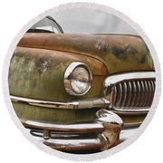 1951 Nash Ambassador Hydramatic Front End Round Beach Towel