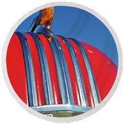 1951 Pontiac Chief Hood Ornament 2 Round Beach Towel by Jill Reger