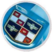 1951 Studebaker Hood Emblem Round Beach Towel