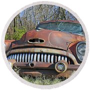 1952 Buick For Sale Round Beach Towel