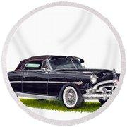 1952 Hudson Hornet Convertible Round Beach Towel