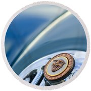 1952 Jaguar Hood Ornament Round Beach Towel