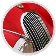 1952 Jaguar Xk 120 Grille Emblem Round Beach Towel