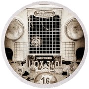 1952 Land Rover 80 Grille -1003s Round Beach Towel