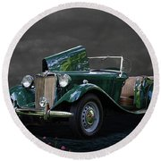 1952 Mg Td Roadster Round Beach Towel