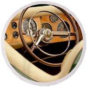 1952 Sterling Gladwin Maverick Sportster Steering Wheel Round Beach Towel