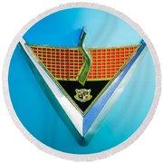 1952 Studebaker Emblem Round Beach Towel