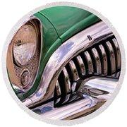 1953 Buick Chrome Round Beach Towel