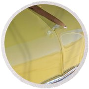 1953 Chevrolet Bel Air Hood Ornament Round Beach Towel