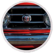 1953 Nash Healey Roadster Grille Round Beach Towel