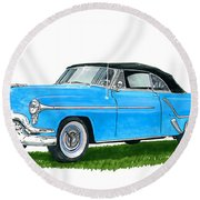 Oldsmobile 98 Convert Round Beach Towel