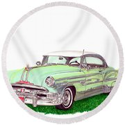1953 Pontiac Chieftain Catalina H.t. Round Beach Towel