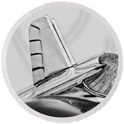 1953 Pontiac Hood Ornament 2 Round Beach Towel