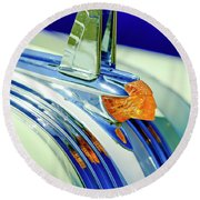 1953 Pontiac Hood Ornament 5 Round Beach Towel