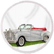 Rolls Royce Silver Dawn 1953 Round Beach Towel