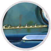 1953 Studebaker Champion Starliner Abstract Round Beach Towel