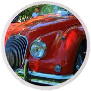 1953 Xk 150 Jaguar Round Beach Towel