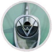 1954 Buick Hood Ornament Round Beach Towel