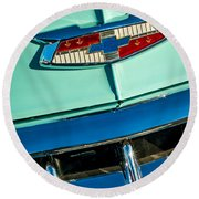 1954 Chevrolet Belair Emblem Round Beach Towel