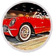1954 Chevrolet Corvette Number 2 Round Beach Towel