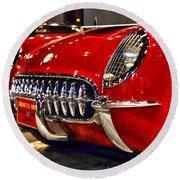 1954 Chevrolet Corvette Number 3 Round Beach Towel