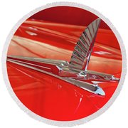 1954 Ford Cresline Sunliner Hood Ornament 2 Round Beach Towel