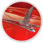 1954 Ford Cresline Sunliner Hood Ornament 2 Round Beach Towel