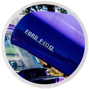 1954 Ford F100 Round Beach Towel