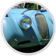 1954 Jaguar Xk Round Beach Towel