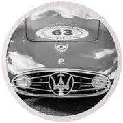 1954 Maserati A6 Gcs -0255bw Round Beach Towel
