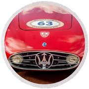 1954 Maserati A6 Gcs Grille -0255c Round Beach Towel