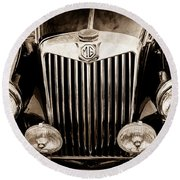 1954 Mg Tf Grille Emblem -0165s Round Beach Towel