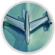 1954 Oldsmobile Super 88 Hood Ornament 2 Round Beach Towel by Jill Reger