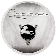 1954 Pegaso Z-102 Saoutchik Coupe Emblem -2218ac Round Beach Towel